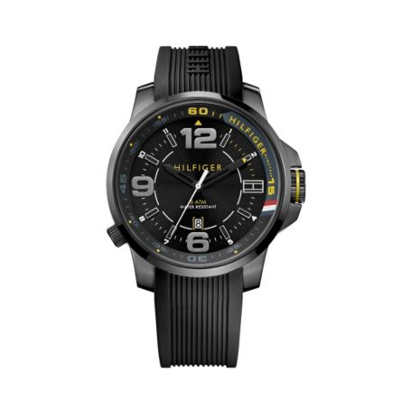 Image for BLACK SILICONE STRAP ATHLETIC WATCH from Tommy Hilfiger USA