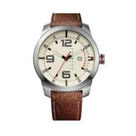 CROC LEATHER BROWN STRAP WITH SILVER DETAIL $125.00