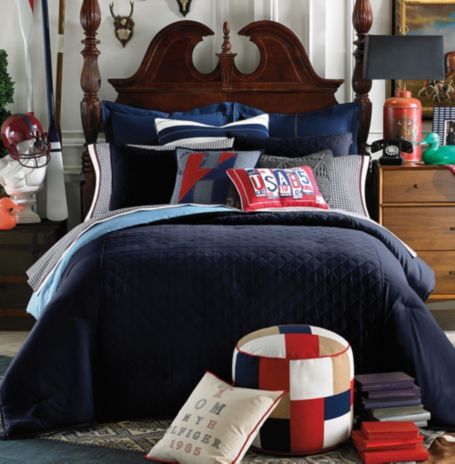 Image for HILFIGER PREP SOLID COMFORTER from Tommy Hilfiger USA