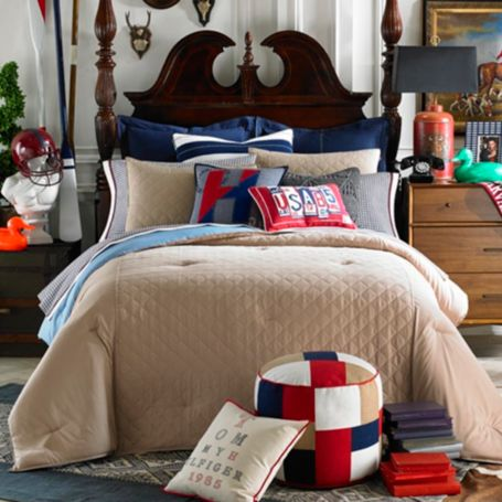 Image for HILFIGER PREP SOLID COMFORTER SET from Tommy Hilfiger USA