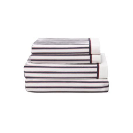Image for TICKING STRIPE SHEET SET from Tommy Hilfiger USA