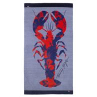 HIBISCUS LOBSTER PILLOW TOWEL $29.99
