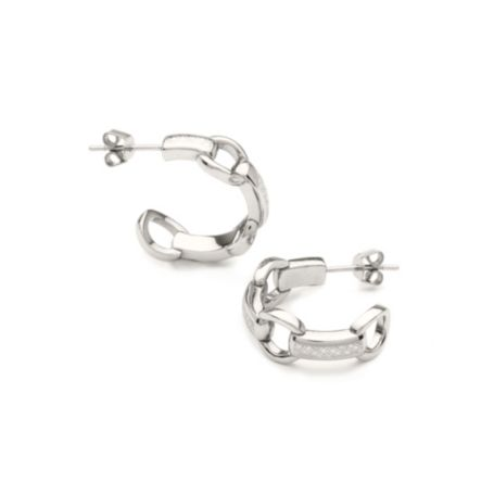 Image for STAINLESS STEEL HOOP EARRINGS from Tommy Hilfiger USA