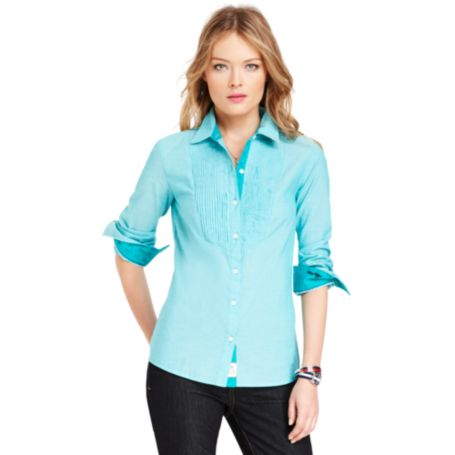 Image for PLEATED FRONT SHIRT from Tommy Hilfiger USA