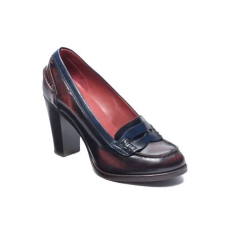 Image for COLOR BLOCKED HEELED LOAFER from Tommy Hilfiger USA