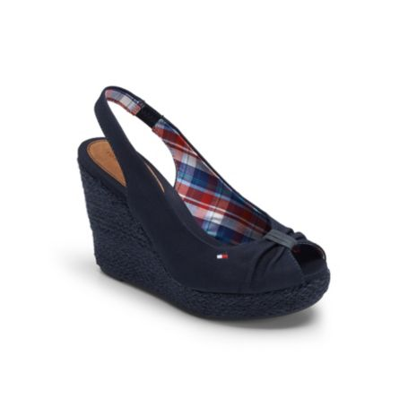 Image for ELASTIC ESPADRILLE WEDGE from Tommy Hilfiger USA