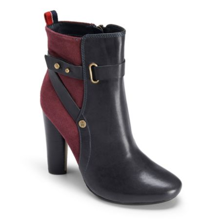 Image for TWO TONED LEATHER STRAP BOOTIE from Tommy Hilfiger USA