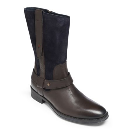 Image for COLORBLOCK SUEDE LEATHER SHORT FLAT BOOT from Tommy Hilfiger USA
