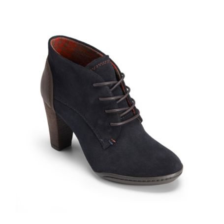 Image for LACE UP HEEL SUEDE BOOTIE from Tommy Hilfiger USA