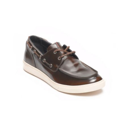 Image for SHINY LEATHER BOAT SHOE from Tommy Hilfiger USA