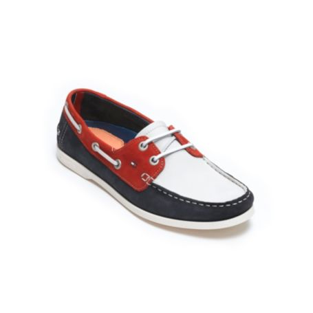 Image for LEATHER COLORBLOCK BOAT SHOE from Tommy Hilfiger USA