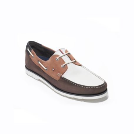 Image for COLORBLOCK LEATHER BOAT SHOE from Tommy Hilfiger USA