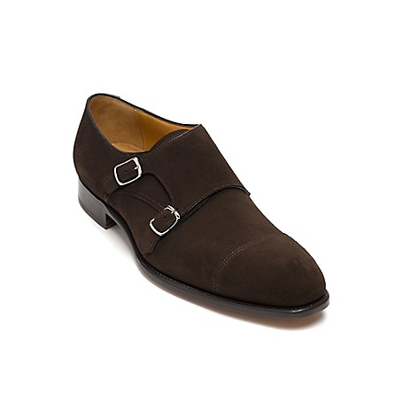 Tommy Hilfiger Suede Monk Strap Shoes - Coffee Bean Tommy Hilfiger Men's Shoe. Our Suede Monk Strap Shoe Modernizes Your Look Right Down To The Buckle. Attention To Detail Is Paramount, From The Stitched Sole To The Nailed-Heel Construction.• Monk Strap Silhouette In Leather.• Padded Footbed, Leather Outsole.• .75'' Heel.• Imported.