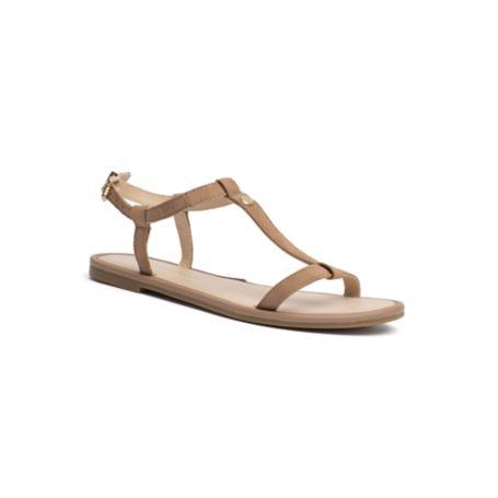 Tommy Hilfiger Final Sale-T-Strap Flat Sandal - Nude - 38