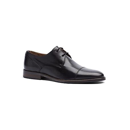 Tommy Hilfiger Leather Dress Shoes - Black - 44 Tommy Hilfiger Men's Shoe. What Every Man Must Own-The Timeless Wingtip Expertly Crafted In Premium Leather With The Timeless Trademark Details. Available In Shades Of Coffee And Classic Black.Wingtip Silhouette In Leather..5'' Heel.Cushioned Insole, Textured Rubber Outsole.Imported.
