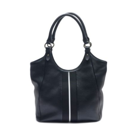 Image for THE SIGNATURE PEBBLE LEATHER TOTE WITH STRIPE from Tommy Hilfiger USA