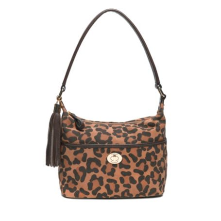 Image for LEOPARD PRINTED SUEDE SMALL BUCKET BAG from Tommy Hilfiger USA