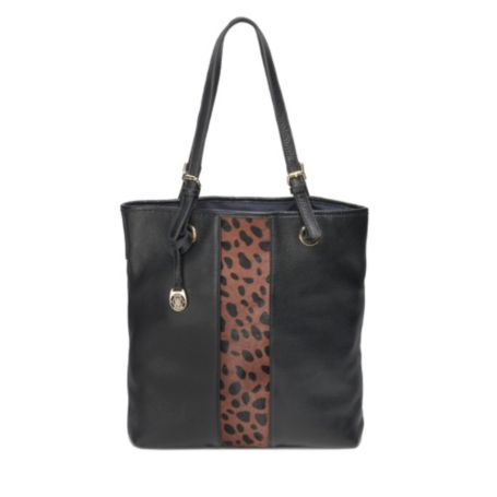Image for PEBBLE LEATHER AND LEOPARD TOTE from Tommy Hilfiger USA
