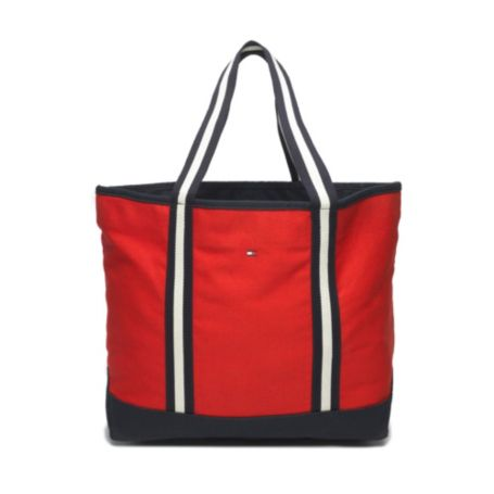 Image for LARGE CLASSIC STRIPE WEB TOTE from Tommy Hilfiger USA