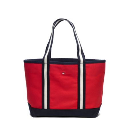 Image for CLASSIC STRIPE WEB TOTE from Tommy Hilfiger USA
