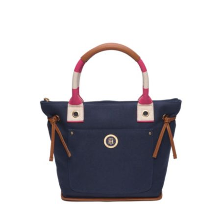 Image for CANVAS STRIPE TOTE from Tommy Hilfiger USA