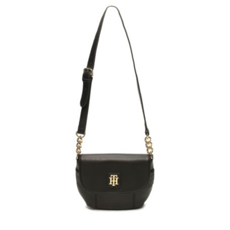 Image for LEATHER FLAP CROSSBODY from Tommy Hilfiger USA