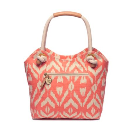 Image for IKAT LINEN TOTE from Tommy Hilfiger USA
