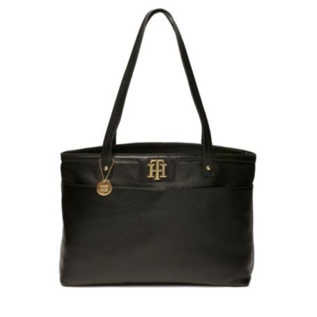 Image for LEATHER POLISHED TOTE from Tommy Hilfiger USA