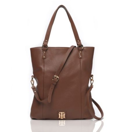 Image for LEATHER CONVERTIBLE TOTE from Tommy Hilfiger USA