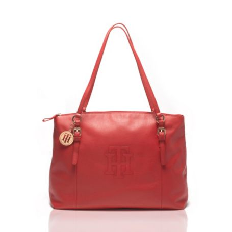 Image for PEBBLE LEATHER ZIP TOTE from Tommy Hilfiger USA