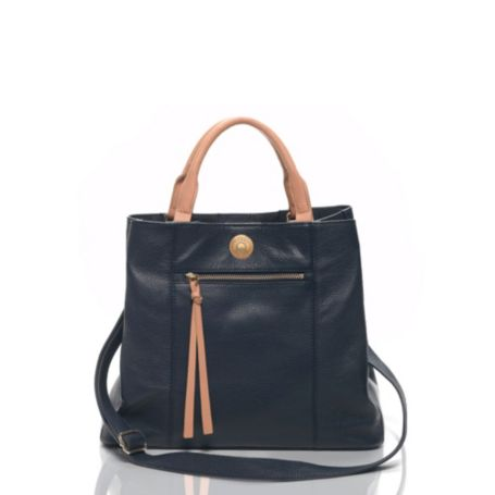 Image for PEBBELED LEATHER DOUBLE HANDLE SHOPPER from Tommy Hilfiger USA