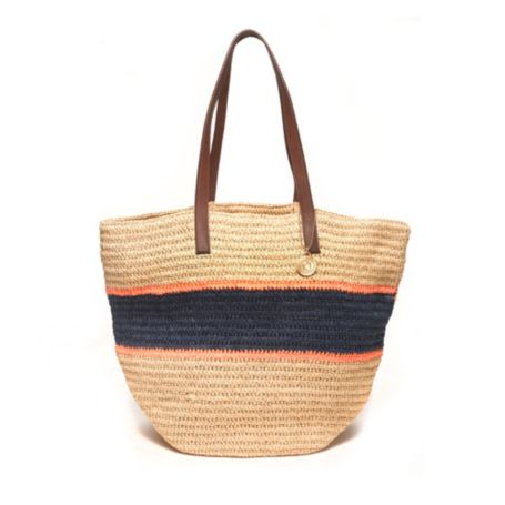 Image for RAFIA STRIPED STRAW TOTE from Tommy Hilfiger USA