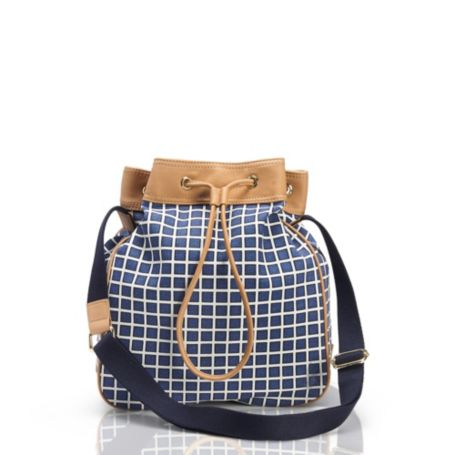 Image for CANVAS CHECKBOARD DRAWSTRING BAG from Tommy Hilfiger USA