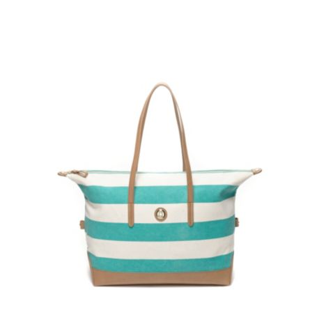 Image for RUGBY STRIPE CONVERTIBLE TOTE from Tommy Hilfiger USA