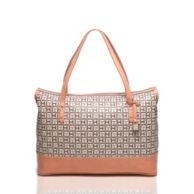 MONOGRAM COATED CANVAS TOTE $148.00