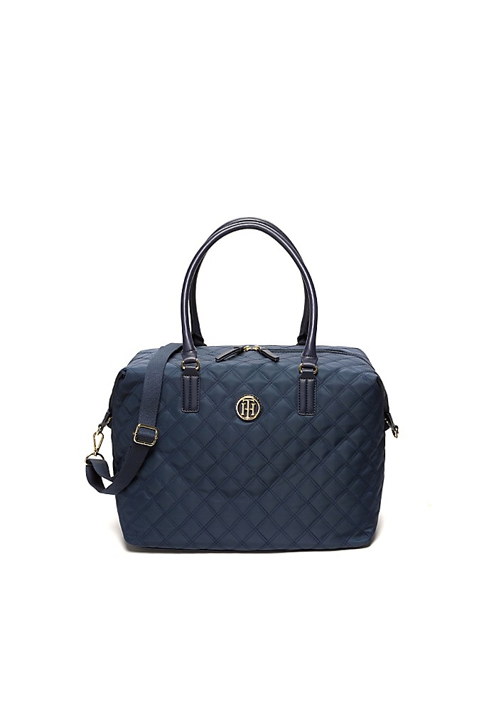 tommy hilfiger women 39 s quilted weekender bag ebay. Black Bedroom Furniture Sets. Home Design Ideas