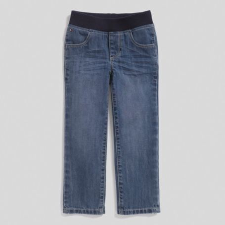 Image for STRAIGHT LEG EWAIST JEAN LIGHT WASH from Tommy Hilfiger USA