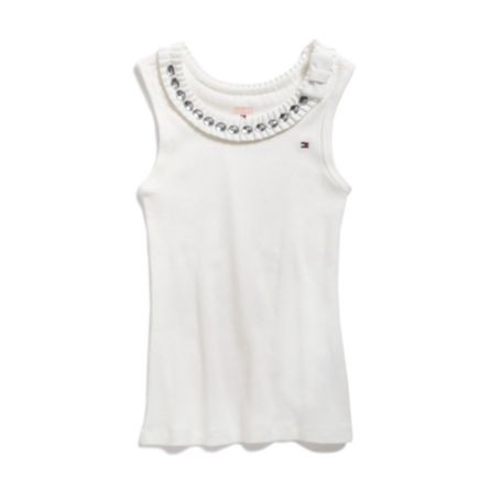 Image for JEWEL NECKLINE KNIT TOP from Tommy Hilfiger USA