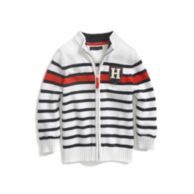 STRIPE HALF ZIP SWEATER $34.99