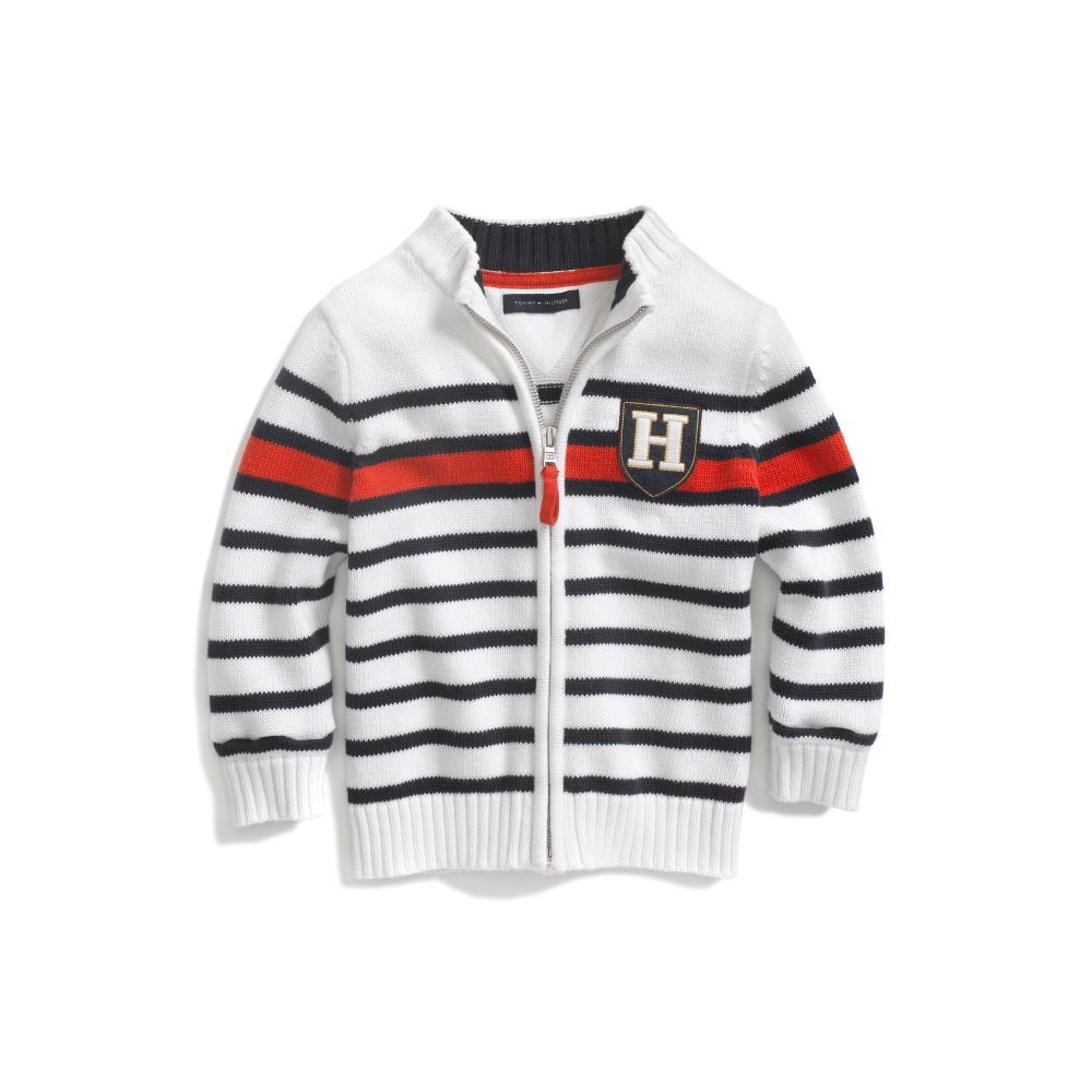 Image for STRIPE FULL ZIP SWEATER from Tommy Hilfiger USA