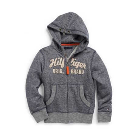 Image for NOVELTY ZIP HOODED FLEECE from Tommy Hilfiger USA