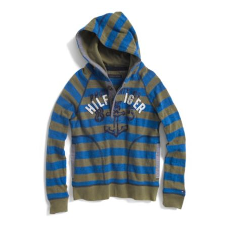 Image for HOODED STRIPE KNIT from Tommy Hilfiger USA