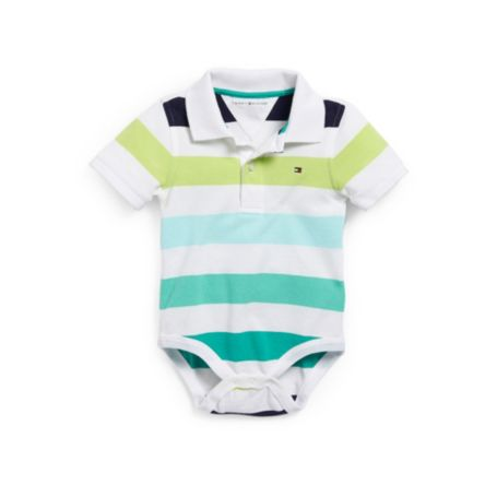 Image for MULTI STRIPE POLO BODYSUIT from Tommy Hilfiger USA