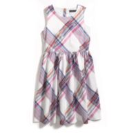 IKAT PLAID WOVEN DRESS $45.00
