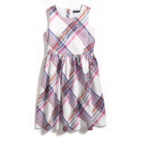 Image for IKAT PLAID WOVEN DRESS from Tommy Hilfiger USA