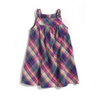 MULTI PLAID WOVEN DRESS $39.00