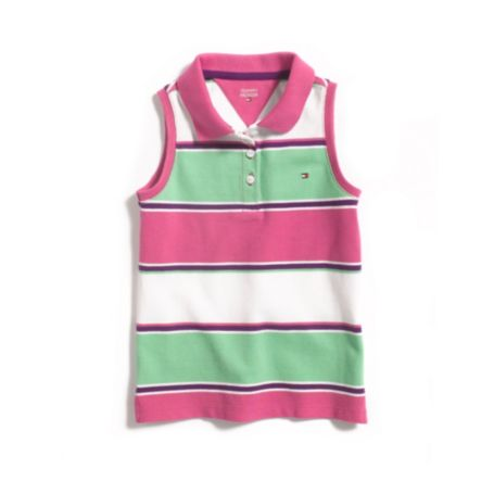 Image for SLEEVELESS STRIPE POLO from Tommy Hilfiger USA