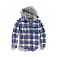 HOODED PLAID SHIRT $39.99