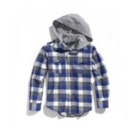 HOODED PLAID SHIRT $34.99