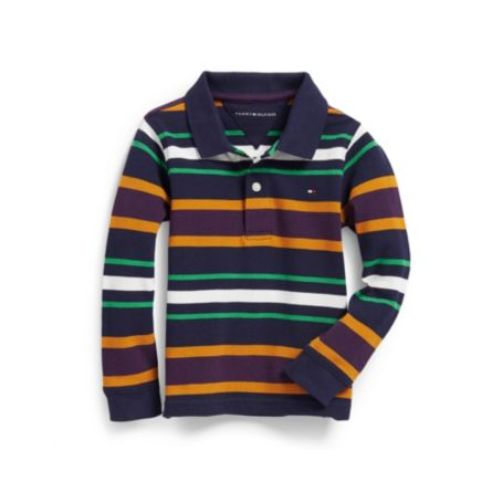 MULTI COLORED STRIPE POLO